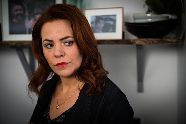 Rachel Tucker plays Sharon Collins in Informer