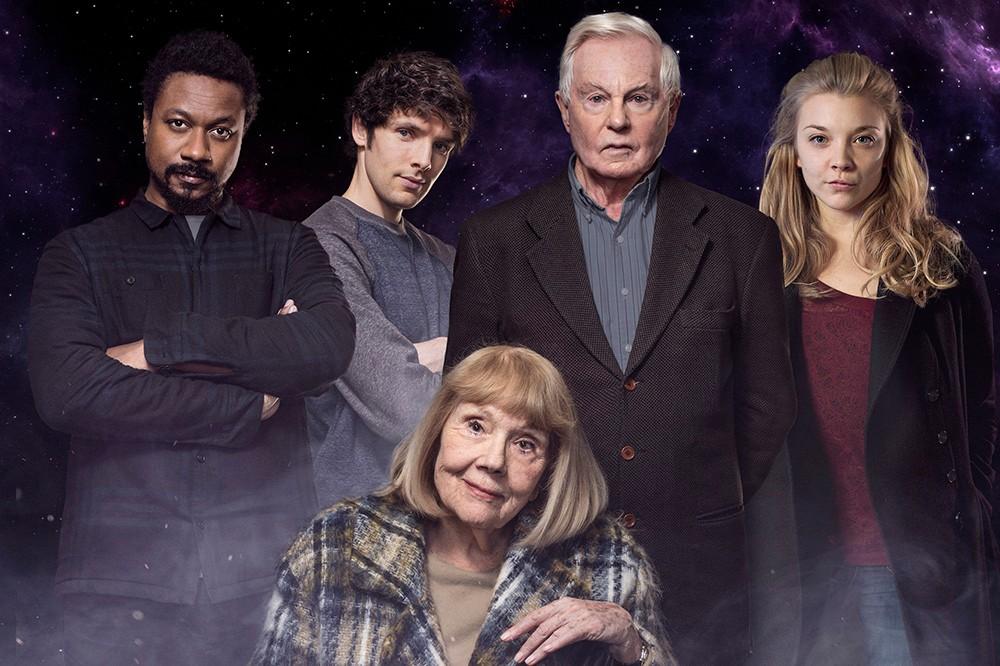 Nathaniel Martello-White, Colin Morgan, Diana Rigg, Derek Jacobi and Natalie Dormer in BBC Radio 4's Norse Mythology (BBC)