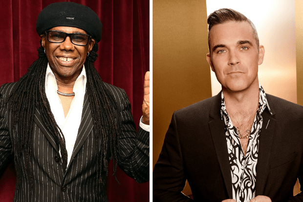 Robbie Williams and Nile Rodgers judges X factor