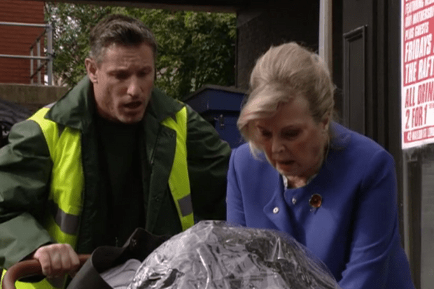 Cora and Robbie on EastEnders