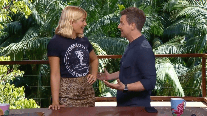 Holly Willoughby and Declan Donnelly in I'ma Celebrity Get Me Out of Here