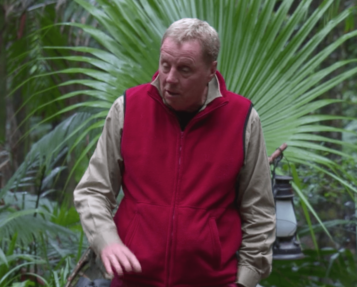 Harry Redknapp, Im a Celeb (ITV Screenshot)