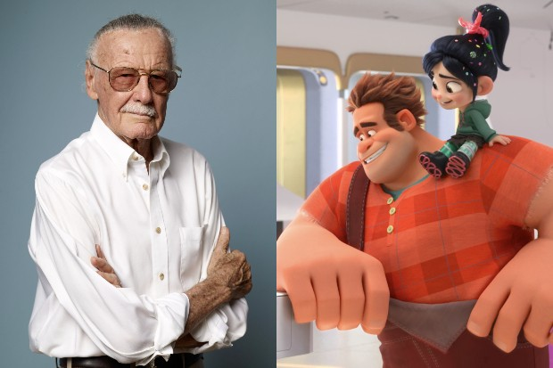 Stan Lee with Ralph and Vanellope from Ralph Breaks the Internet (Getty, Disney)