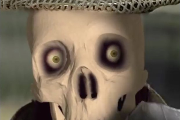 The CGI Skull in Reeltime's Wartime