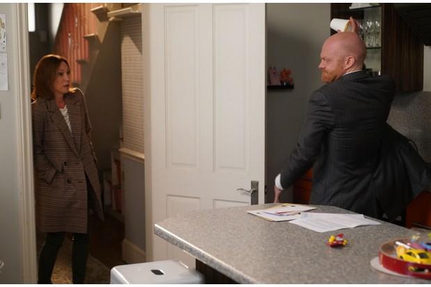 Max (Jake Wood) and Rainie (Tanya Franks) on EastEnders