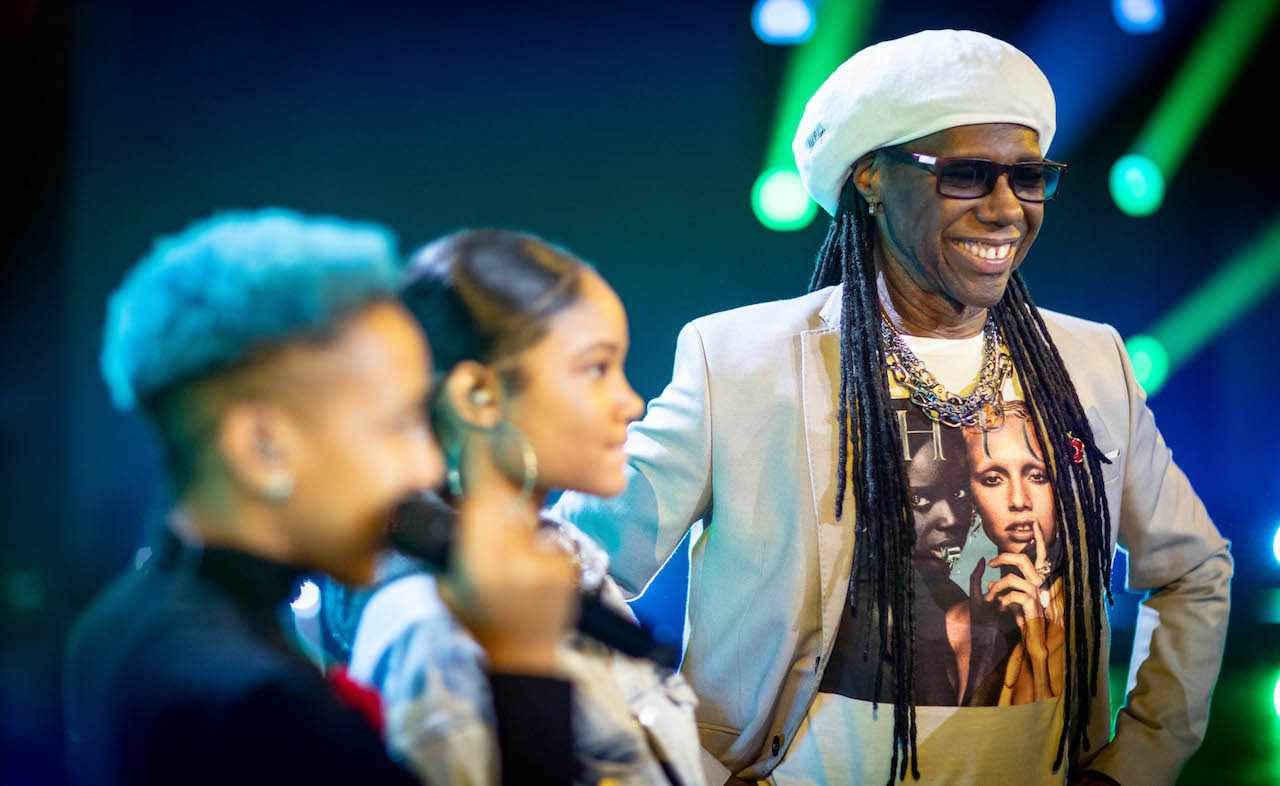 Guest judge Nile Rodgers during X Factor 2018 Movie Week (ITV)