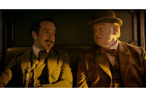 """Jonjo O'Neill as """"The Englishman"""" and Brendan Gleeson as """"The Irishman"""" in The Ballad of Buster Scruggs, a film by Joel and Ethan Coen."""
