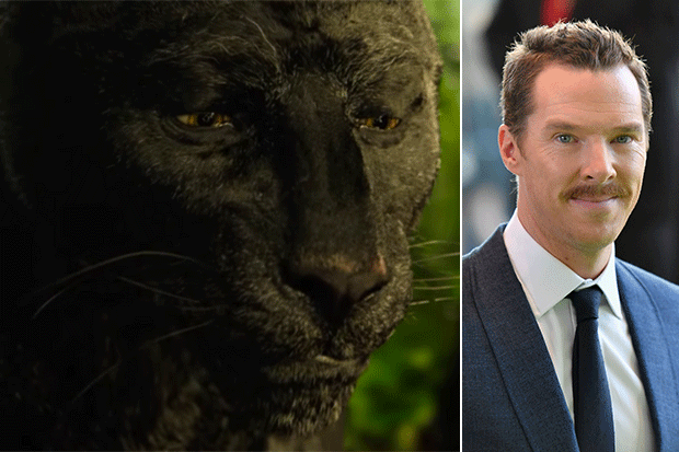 Cumberbatch as Shere Khan, YouTube/Getty