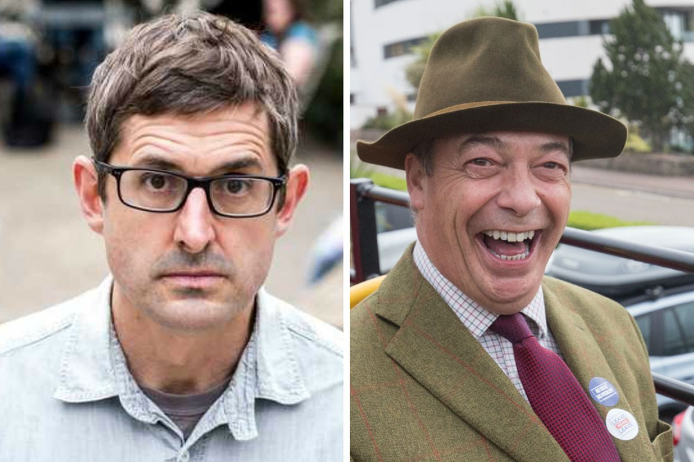 Louis Theroux and Nigel Farage (Getty)