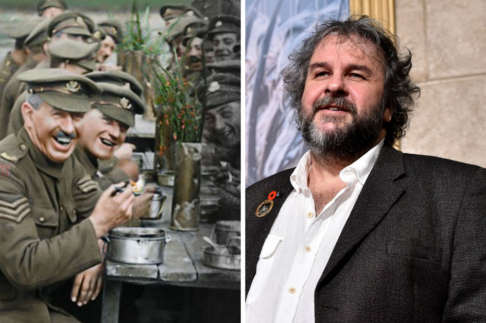 Peter Jackson (Getty)/ They Shall Not Grow Old (BBC)