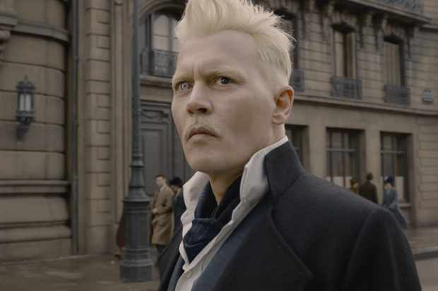 Johnny Depp is Gellert Grindelwald in Fantastic Beasts 2
