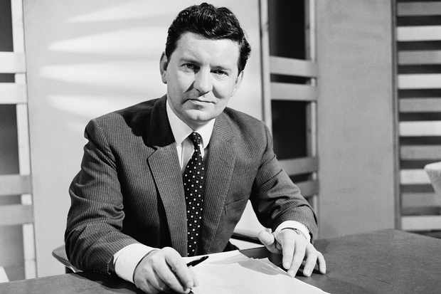 English broadcaster Richard Baker, a newsreader for BBC News, UK, 27th July 1964. (Photo by R. McPhedran/Express/Getty Images)