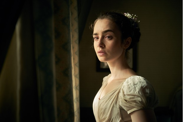 Fantine played by Lily Collins