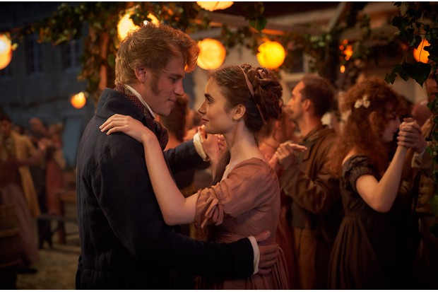 Johnny Flynn and Lily Collins, Les Mis (BBC)
