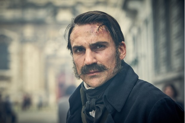 Pontmercy played by Henry Lloyd-Hughes