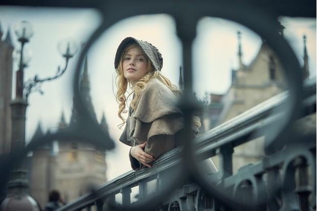 Cosette played by Ellie Bamber