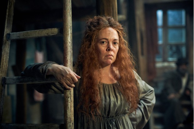 Madame Thénardier played by Olivia Colman