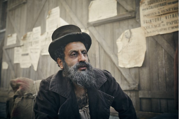 Monsieur Thénardier played by Adeel Akhtar