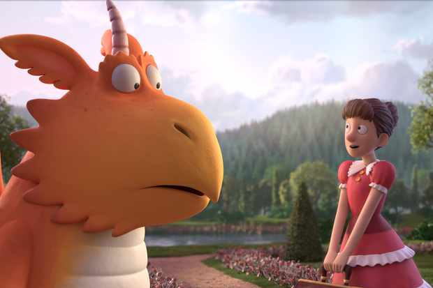 Programme Name: Zog - TX: 25/12/2018 - Episode: Zog - Early Release Pic (No. n/a) - Picture Shows: Zog (voiced by Hugh Skinner) with Princess Pearl (voiced by Patsy Ferran) - (C) Orange Eyes Ltd - Photographer: Magic Light Pictures Ltd