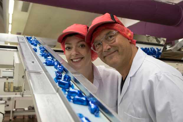Cherry Healey and Gregg Wallace Inside the Christmas Factory