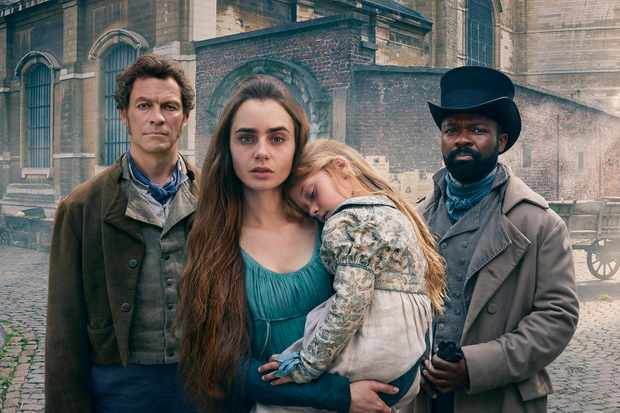 Dominic West, Lily Collins, David Oyelowo, Les Miserables (BBC)