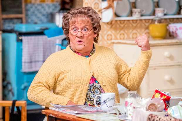 WARNING: Embargoed for publication until 00:00:01 on 11/12/2018 - Programme Name: Mrs Brown's Boys Christmas and New Year Special - TX: n/a - Episode: n/a (No. n/a) - Picture Shows: **STRICTLY EMBARGOED NOT FOR PUBLICATION BEFORE 00:01 HRS ON TUESDAY 11TH DECEMBER 2018** Mrs Brown (BRENDAN O'CARROLL) - (C) BBC Studios - Photographer: Alan Peebles