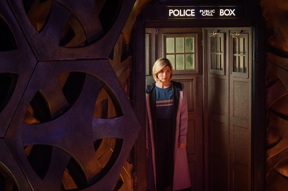 Doctor Who's Jodie Whittaker in her Tardis (BBC)