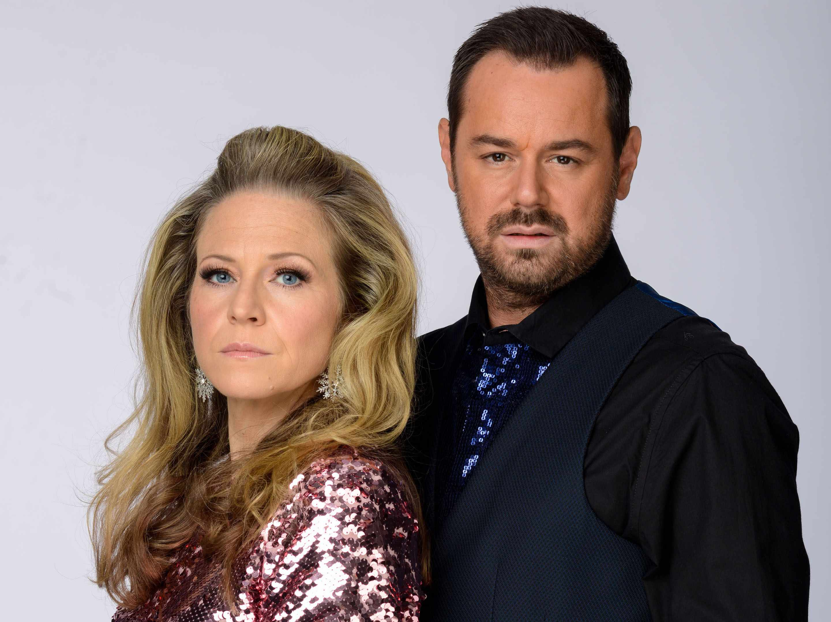 Linda (Kellie Bright) and Mick (Danny Dyer) on EastEnders
