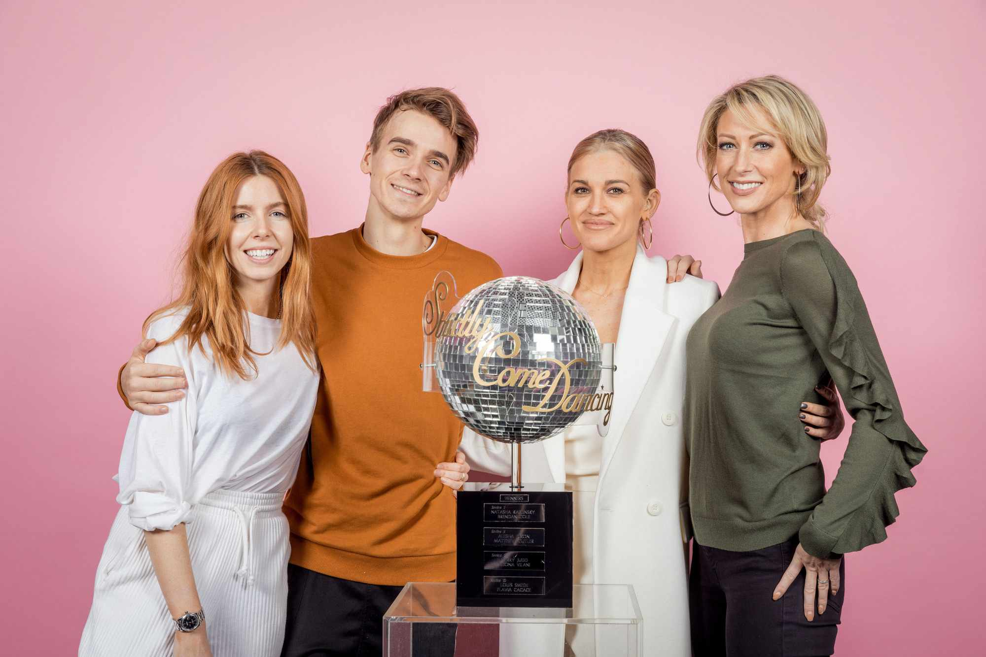 Strictly 2018 finalists Stacey Dooley, Joe Sugg, Ashley Roberts and Faye Tozer (BBC)
