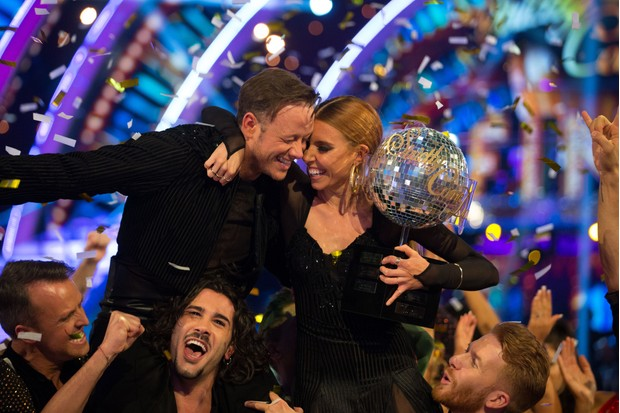 Kevin Clifton and Stacey Dooley celebrate winning Strictly Come Dancing 2018 (BBC)
