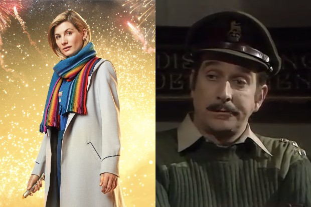 Jodie Whittaker's Doctor and Nicholas Courteney's Brigadier in Doctor Who (BBC)