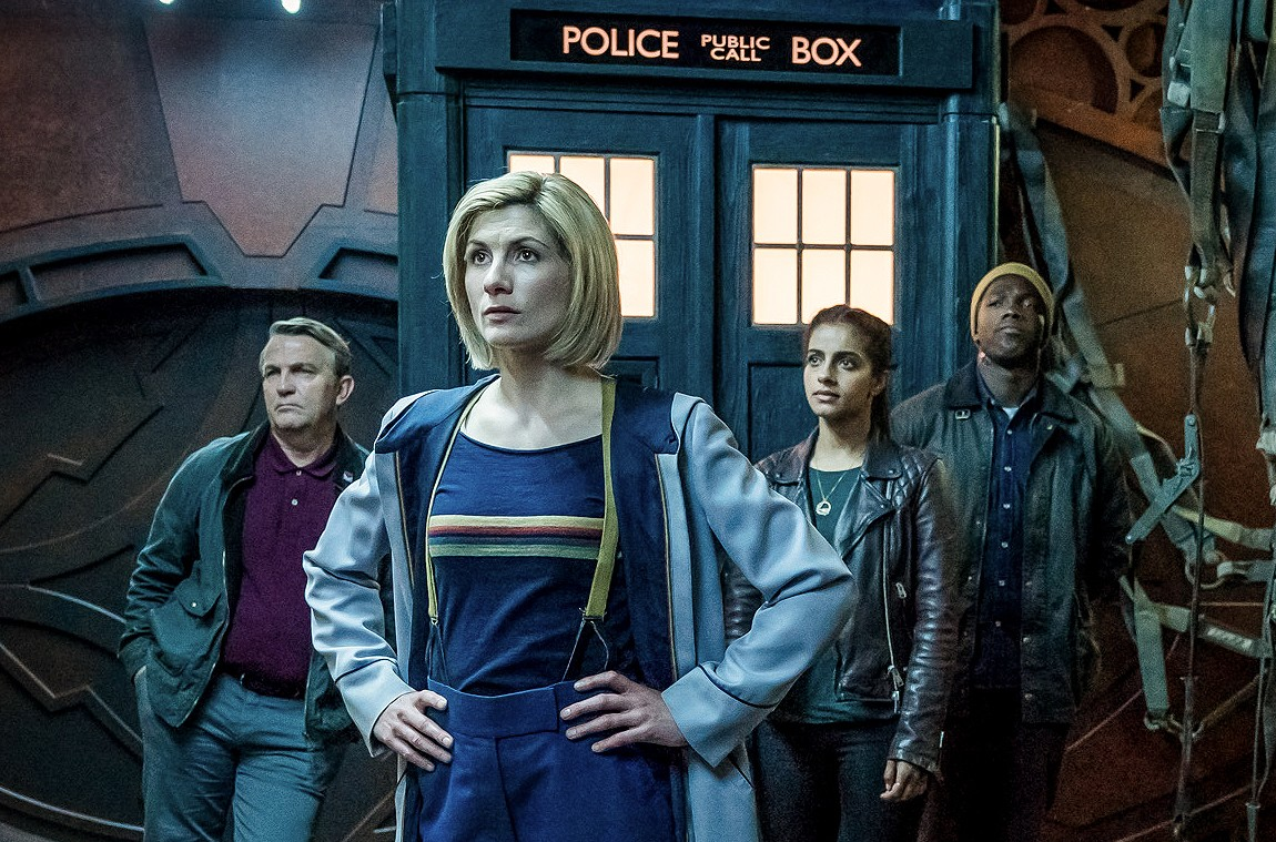 WARNING: Embargoed for publication until 00:00:01 on 15/11/2018 - Programme Name: Doctor Who Series 11 - TX: 09/12/2018 - Episode: n/a (No. 10) - Picture Shows: **EARLY RELEASE IMAGE - STRICTLY EMBARGOED UNTIL 15/11/2018 00:00:01** Graham (BRADLEY WALSH), The Doctor (JODIE WHITTAKER), Yaz (MANDIP GILL), Ryan (TOSIN COLE) - (C) BBC / BBC Studios - Photographer: Ben Blackall