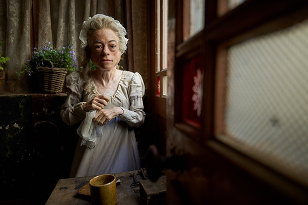 Fantine's concierge played by Liz Carr in Les Miserables
