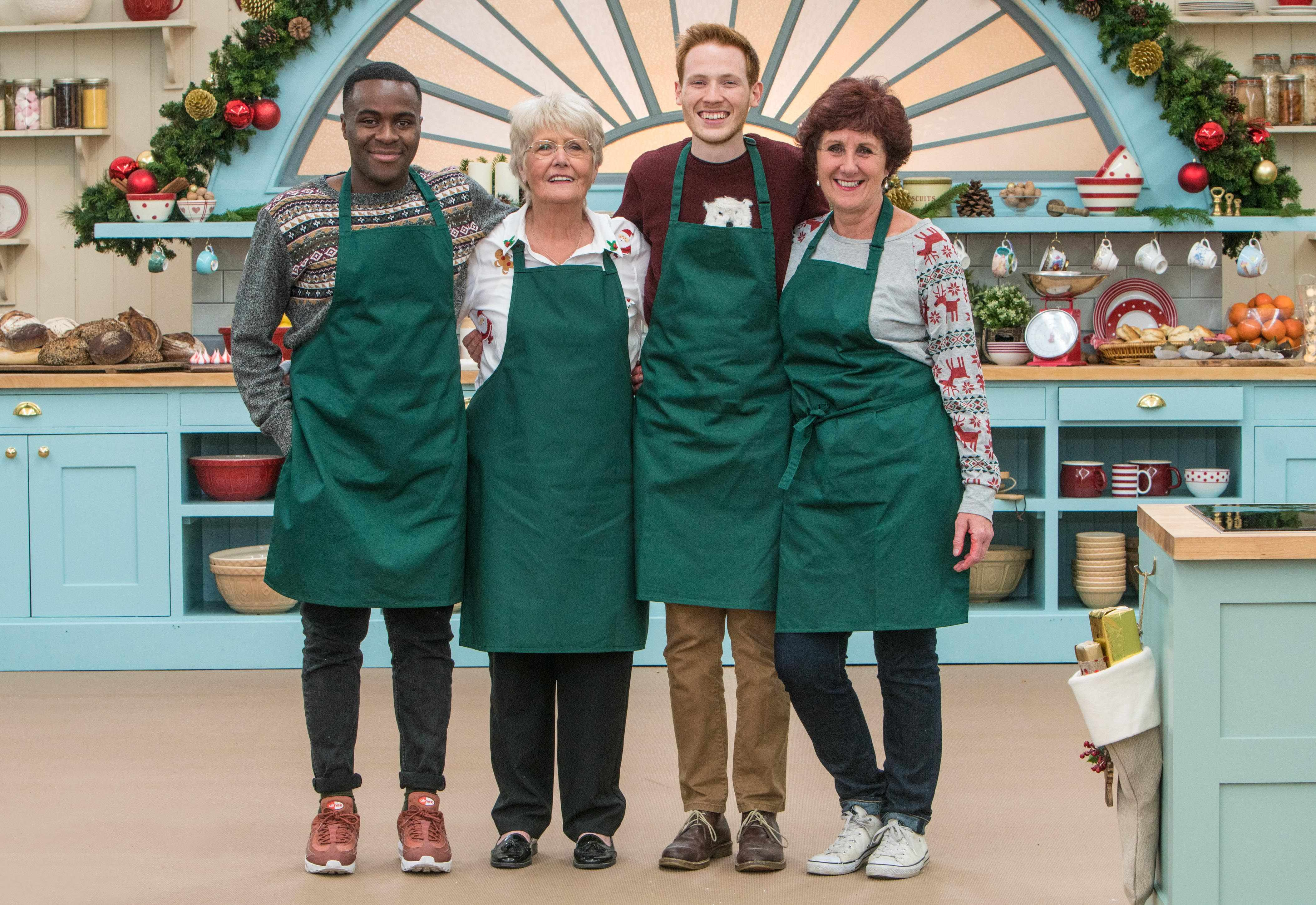 Bakers Liam, Flo, Andrew and Jane, The Great Christmas British Bake Off