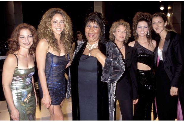 Gloria Estefan, Mariah Carey, Aretha Franklin, Carole King, Shania Twain and Celine Dion (Photo by KMazur/WireImage)