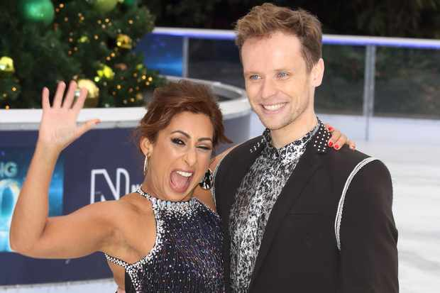 Saira Khan and Mark Hanretty at the Dancing On Ice Launch (Getty)