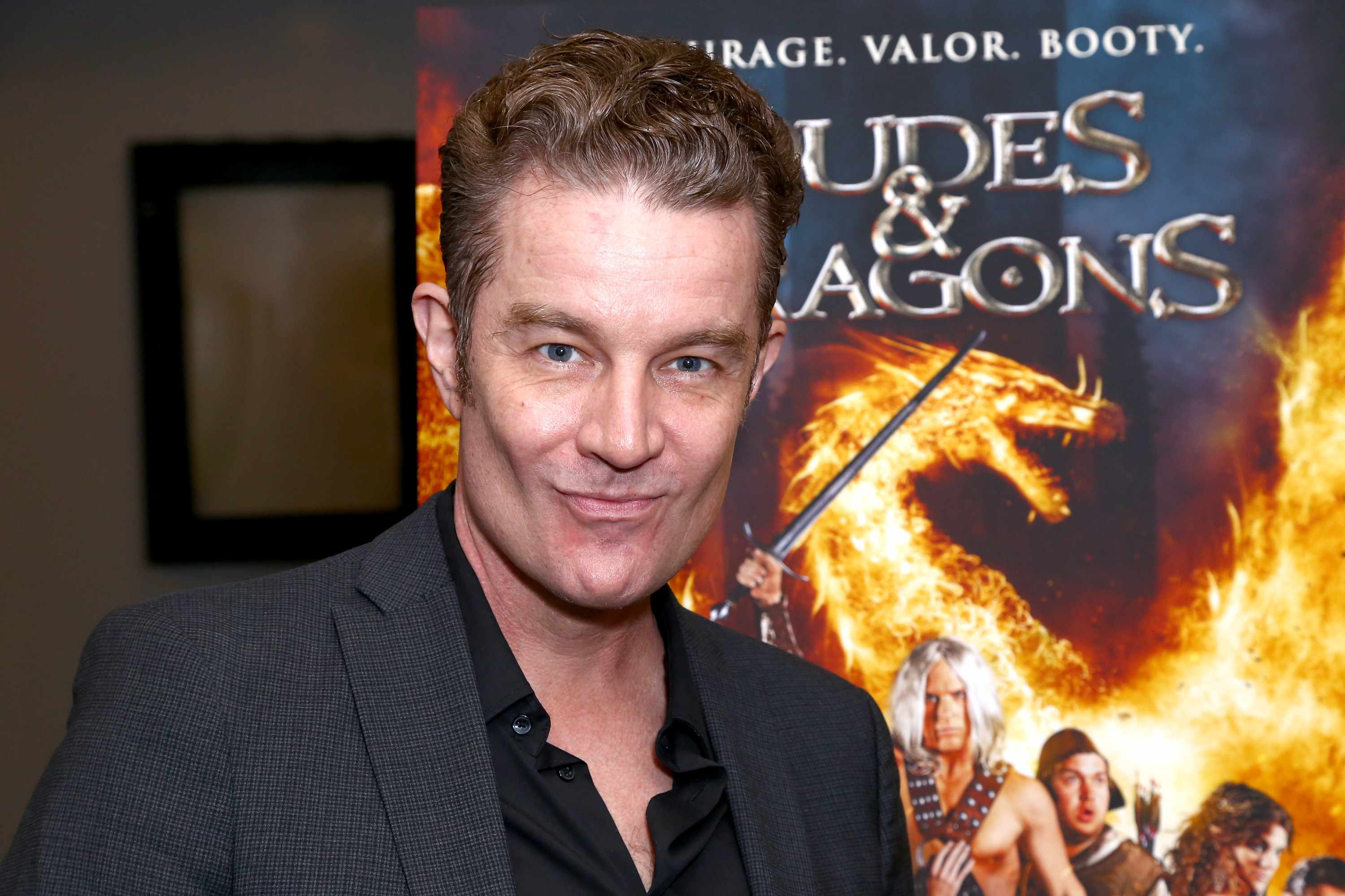 "LOS ANGELES, CA - FEBRUARY 29:  Actor James Marsters attends the premiere of Samuel Goldwyn Films' ""Dudes And Dragons"" at Harmony Gold on February 29, 2016 in Los Angeles, California.  (Photo by Justin Baker/WireImage)"