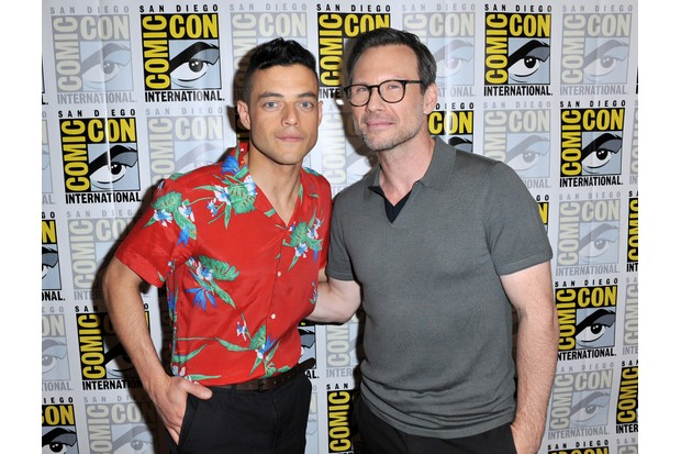 """SAN DIEGO, CA - JULY 21: Actors Rami Malek and Christian Slater attend """"Mr. Robot"""" Press Line during Comic-Con International 2016 at Hilton Bayfront on July 23, 2016 in San Diego, California. (Photo by Jerod Harris/Getty Images)"""