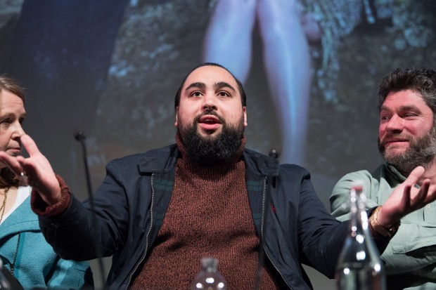 LONDON, ENGLAND - MARCH 05: Asim Chaudhry takes part in a Q&A following a preview of Baby Cow productions new Channel 4 comedy 'High & Dry' at BFI Southbank on March 5, 2018 in London, England. (Photo by Jeff Spicer/Getty Images)