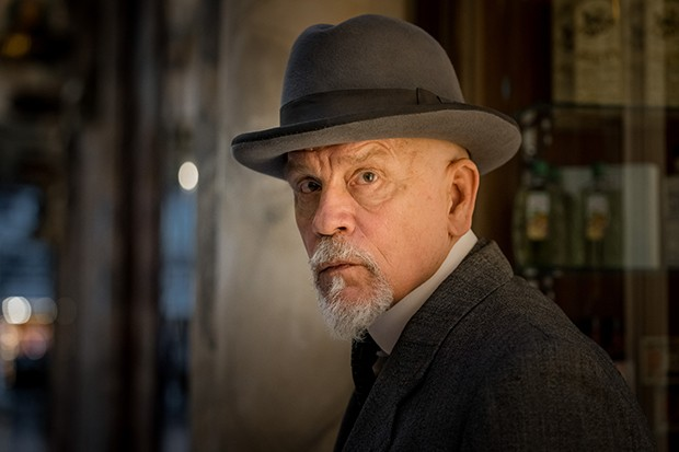 John Malkovich as Hercule Poirot in The ABC Murders