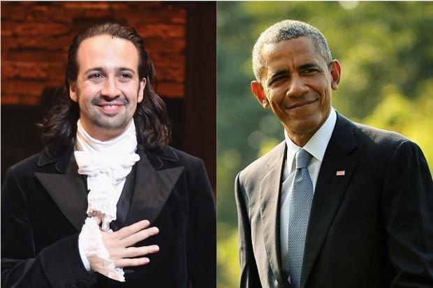 Lin-Manuel Miranda and Obama