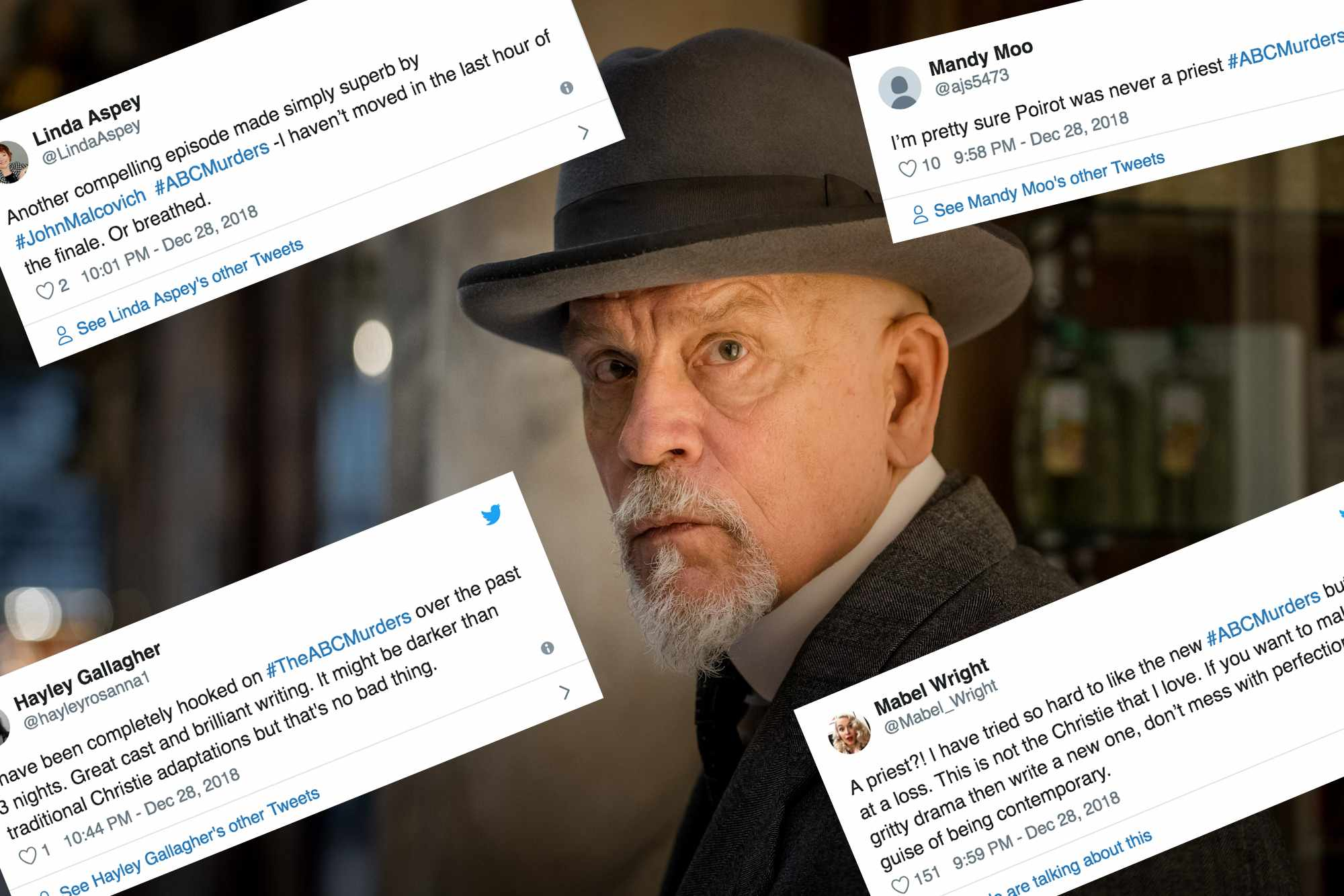 John Malkovich with some tweets (BBC)