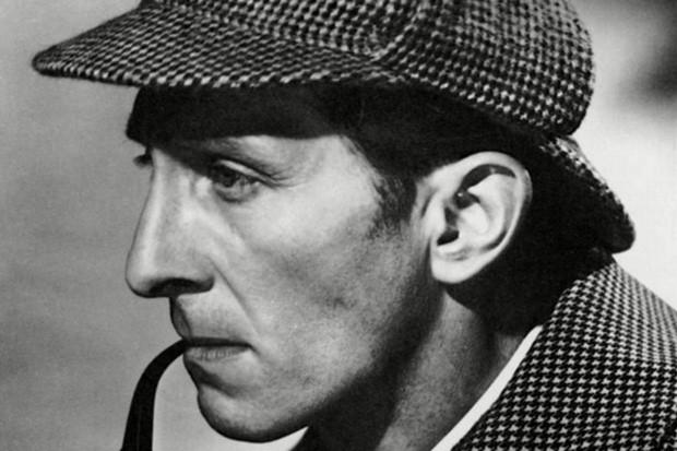 Peter Cushing as Sherlock Holmes