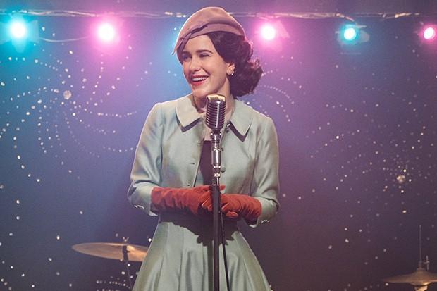 Rachel Brosnahan plays Miriam Maisel in The Marvelous Mrs Maisel