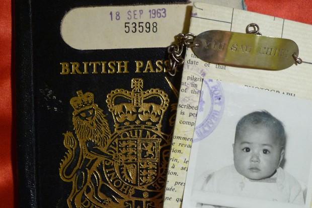 Sue Jardin's identity bracelet, passport and baby jacket
