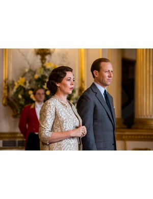 Olivia Colman and Tobias Menzies in The Crown (Netflix)