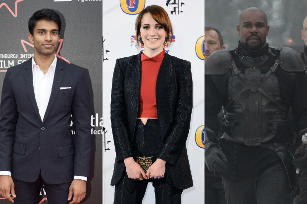 Nikesh Patel, Charlotte Ritchie and Daniel Adegboyega (Getty, Sky)