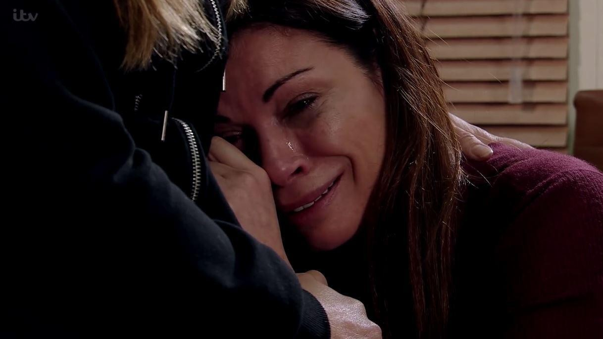 Carla crying on Coronation Street