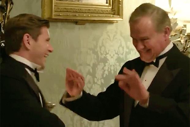 Downton film, Twitter screengrab