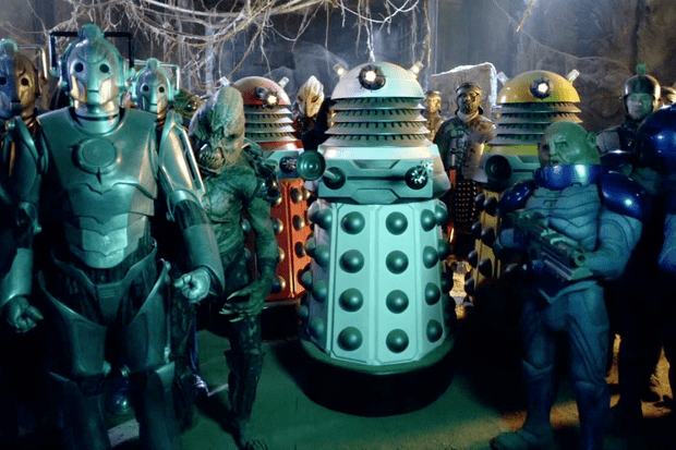 Doctor Who monsters in The Pandorica Opens (BBC)